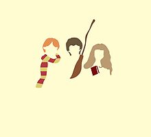 Harry Potter, Hermione, Ron, and Harry by eatorcs