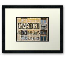 Martini et Poëlerie Framed Print