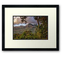 Dawn on Mt. Picachu Framed Print