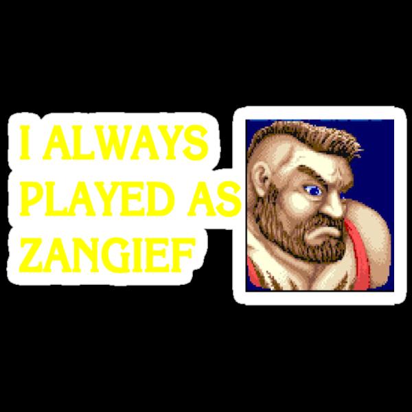 Street Fighter 2 Memories ZANGIEF by Jamie Meakin