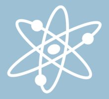 The Big Bang Theory Atom Logo 2 (in white) Kids Clothes