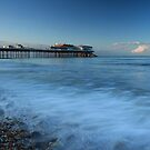 Cromer Pier in Blue by Ursula Rodgers Photography