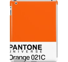 pantone orange 031C iPad Case/Skin