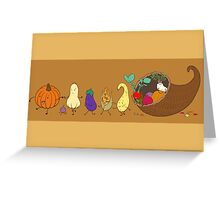 Cornucopia Parade Greeting Card