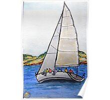 Sailing the Bay Poster