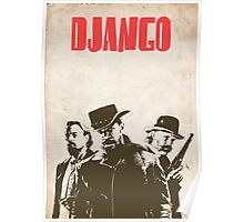 Django Unchained illustration Wild West Style Poster Poster