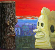 Still life with wood and cheese by Lefteris Yakoumakis