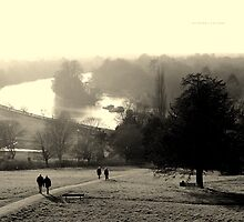 """ Walkers On Richmond Hill (Winter 2012) "" by Richard Couchman"