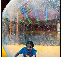Fun In A Water Ball by Michel Godts