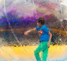 Walking In A Bubble by Michel Godts