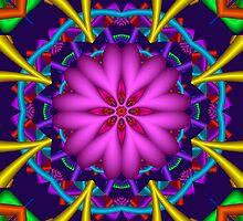 Heart shaped flower fractal iPad case by walstraasart