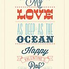 Happy Valentine&#x27;s Day Hand Lettering - Typographical Background by csecsi