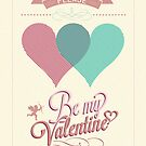 Happy Valentine's Day Hand Lettering - Typographical Background by csecsi