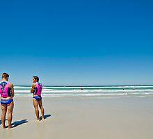 Fremantle SLSC Lifeguards  by Pene Stevens