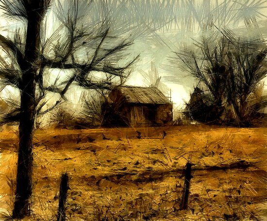 Little Barn On Hill by SuddenJim
