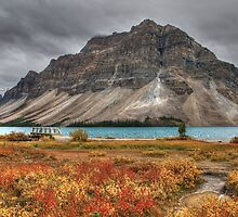 Crowfoot Mountain and Bow lake by JamesA1