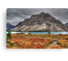 Crowfoot Mountain and Bow lake Canvas Print