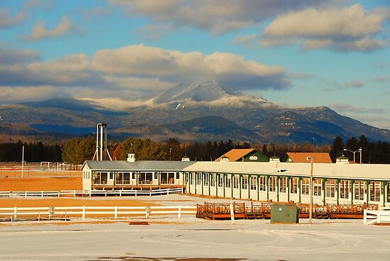 Lake Placid Horse Center - Whiteface Mtn. by John Schneider
