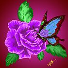 Butterfly Rose by Rubyz