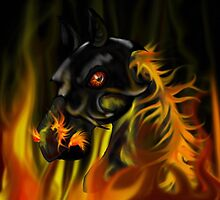Fire horse by Rubyz