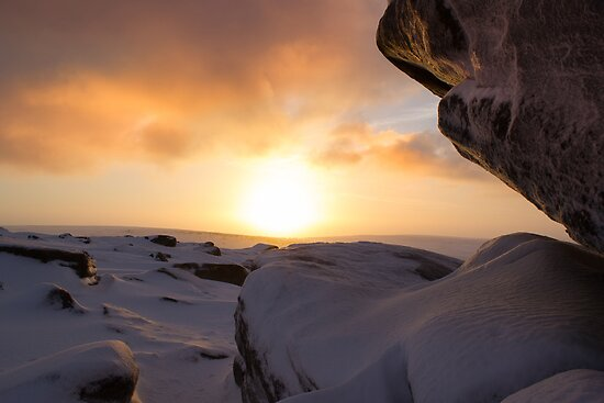 Winter Sunrise on Higger Tor by John Dunbar