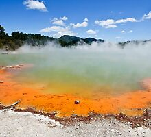 The Champagne Pool, Wai-O-Tapu by Dilshara Hill