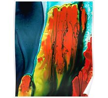 Lava - Red Orange Abstract Painting Poster