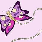 Butterfly Lilac Spreads Her Wings by Leni Kae