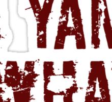 I yam what I yam Sticker