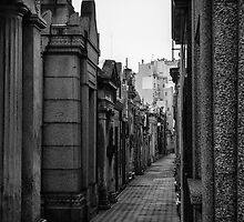 La Recoleta Cemetery 2 - in monochrome by photograham