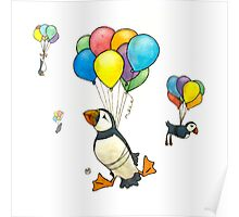 The Puffins Are Getting Carried Away Poster