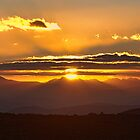 Sunset on Mt Wellington Tasmania. by Maureen Johnston