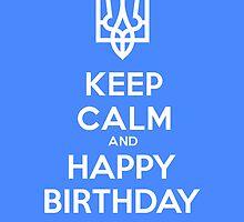 Ukrainian Birthday card by blueyell