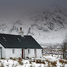 Black Rock Cottage in Winter by Maria Gaellman