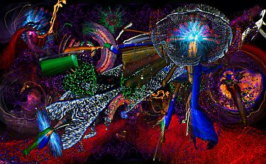 Oregon Zoo Lights Galaxy 2013 by TIMOTHY  POLICH