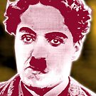 CHARLIE CHAPLIN-THE LITTLE TRAMP (RED) by OTIS PORRITT