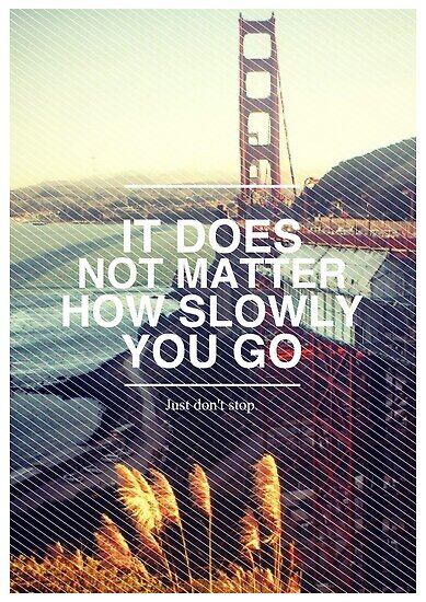 It doesn't matter how slowly you go. by Delaram Rosami
