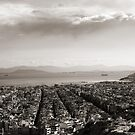 View to Athens Harbor (sepia) by vivendulies