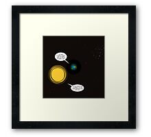 exxon mobil and apple in space Framed Print
