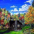 autumn cabin by LoreLeft27