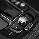 Audi 2013 Console in B&W by Daniel  Oyvetsky