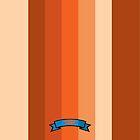 Warm Color Stripe Pattern by thejoyker1986