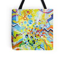 Birth of the Circle - Abstract Acrylic Canvas Painting Tote Bag