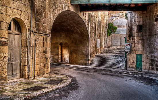Leaving Victoria Gate --- Valletta, Malta by Edwin  Catania