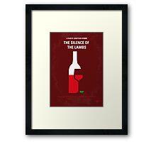 No078 My Silence of the lamb minimal movie poster Framed Print