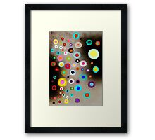 Poppies colorful Snow Landscape Framed Print