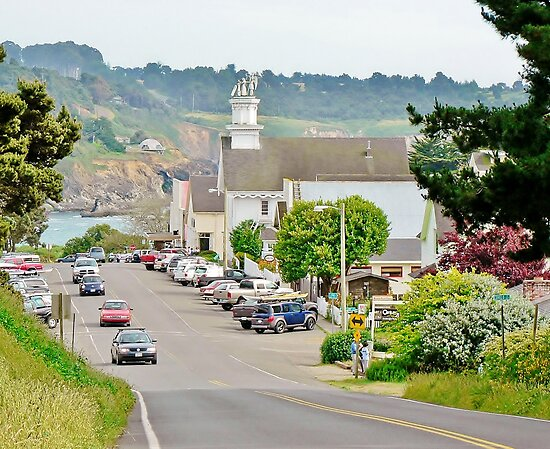 Lansing Street in Mendocino, CA by Martha Sherman