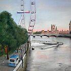 London-Eye at Dusk by TepeeArt
