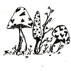 Wonderland Mushrooms by abiburt