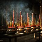 Burning Incense by Lucinda Walter